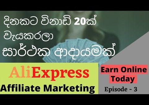 භාණ්ඩ Promote කරලා අතමිට සරුකරන AliExpress Affiliate Marketing