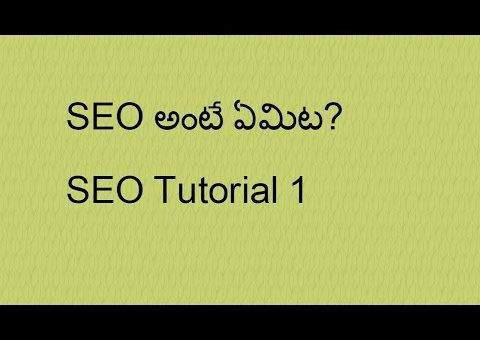 what is Search Engine optimization(SEO) in Telugu